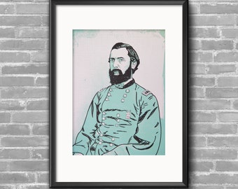 General G. Weitzel Civil War Screenprint