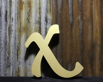 Letter X - Vintage Advertising letter X - Gold