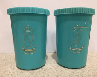 Vintage Turquoise Salt and Pepper Shakers