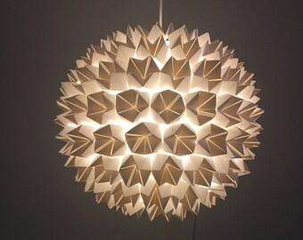 Origami Lamp, Origami Lampshade, Origami Light, Wedding Lantern Centerpiece, Prom decorations, Geometric Light, Geometric Lampshade