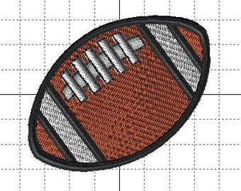 Instant Download - Machine Embroidery Pattern Designs File - Football - Fits 4x4 Hoop - MULTIPLE FORMATS