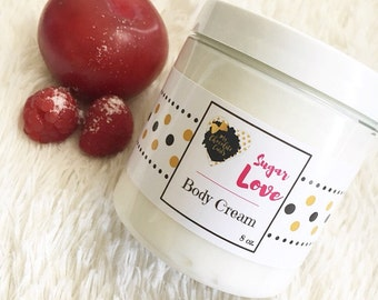 Sugar Love, Body Cream, Body Lotion, Skincare, Moisturizer, Beauty, Shea Butter and Grapeseed oil Lotion