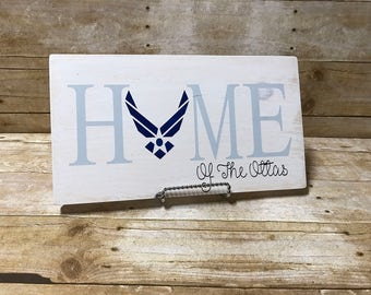 Air Force home sign, military sign, personalized sign