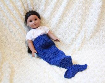 American girl doll mermaid blanket, AG doll mermaid blanket, wellie wishers mermaid tail blanket, 18 inch doll blanket