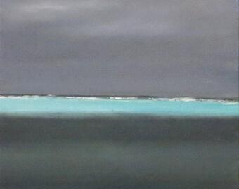 Moorea, grain on the drop off, oil on canvas - original work - painting figurative