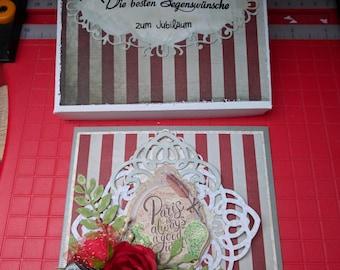 Jubiläumkarte, Hochzeit
