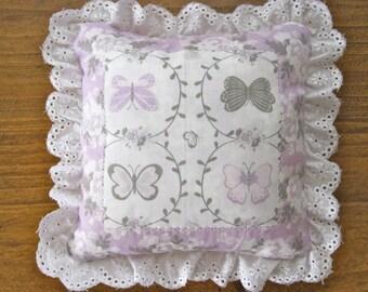 Tooth Fairy Pillow - Tooth Pillow - Girls Pillow - Girls Gift - Mini Pillow - Purple Pillow - Butterfly Pillow