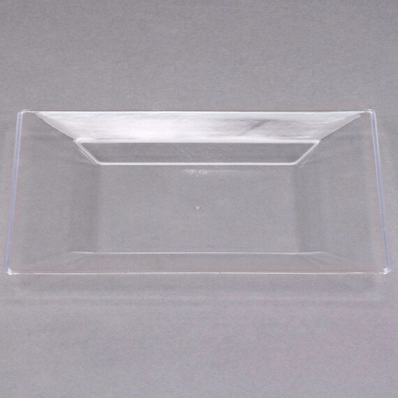 decorative plastic plates for wedding 12 25 10 quot square clear plastic plate wedding supplies 3461