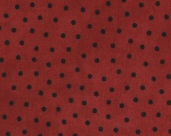 Maywood Woolies Flannel - MASF18506-R - Deep Red Polka Dot - Dots - By Bonnie Sullivan