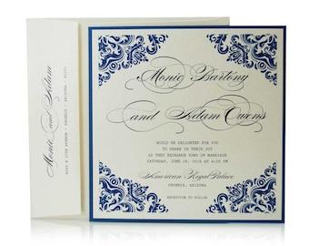 Vintage Blue, Wedding Invitations, Wedding Cards, Wedding Invitation