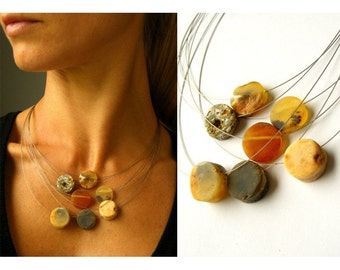 Amber Necklace-Amber Pendant ,Baltic Amber Necklace ,Raw Amber Necklace ,Amber Jewellery , Handmade Amber Necklace