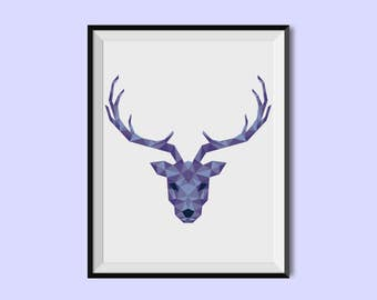 Poster deer - 2 colors. (A5 - A4 - A3)