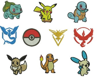 Collection 10 itens - Pokemon Embroidery Designs - 4 sizes - 5 formats