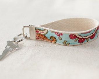 Paisley Key Fob | Fabric Key Chain, Fabric Key Fob, Fabric Wristlet