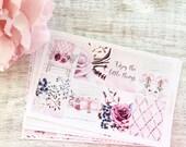 Little Things | Planner Sticker Kit | Pink Floral Lavender Fashion | Decorative | Erin Condren, Filofax, Happy Planner