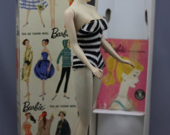 Vintage Blonde Ponytail Barbie #1 - with box and accessories