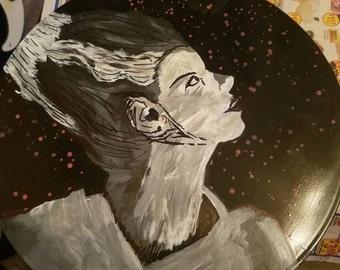 Bride of Frankenstein Vintage Vinyl Painting [Glow in the Dark]