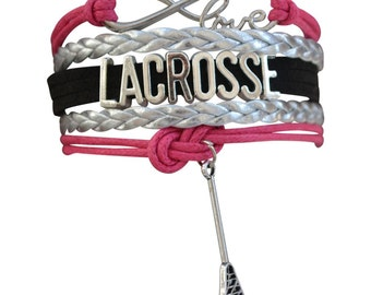 Lacrosse Gift -Lacrosse Bracelet –Lacrosse Gift - Lacrosse Jewelry- Perfect for Lacrosse Players, Lacrosse Coaches &  Lacrosse Team Gifts