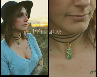 Adjustable choker/Natural stone necklace