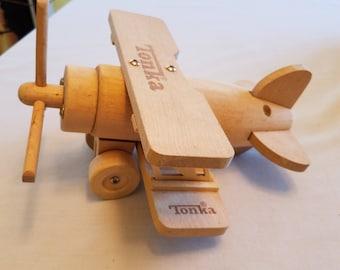 Vintage Tonka Wood Airplane