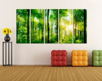 green forest Canvas Print modern art, modern canvas art,  wall art canvas, wall art print, wall decor art print, wall decoration,  bir49