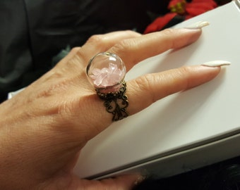 Rose Quartz Dome Ring