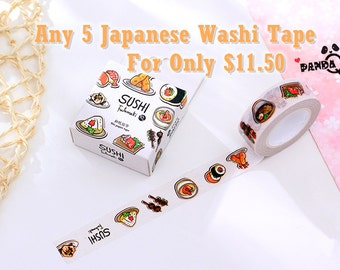 WASHI SET—Any 5 Washi Tape For Only 11.50!!(Limited Quantity!Each Tape's Value Must Under 2.8)
