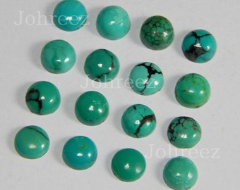 15 Pieces Natural Turquoise Cabochon Round Shape Loose gemstone Smooth polished High Quality Gemstone