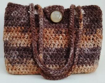 Brown multi wool bag