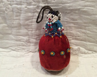 Vintage Native American beaded pin cushion doll, collectible