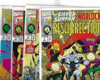 SILVER SURFER/WARLOCK  Resurrection #1,#2,#3,#4  Full Set