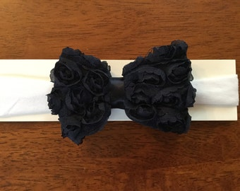 Baby cotton headband with bow