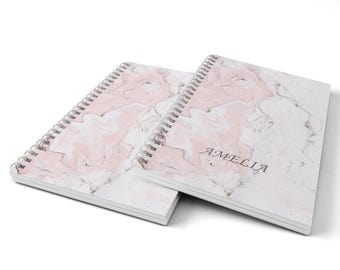 Marble Notebook.  Hard Cover Spiral Notebook. Notepad. Journal.