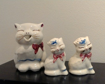 Shawnee Puss N Boots Pitcher, Salt and Pepper Shakers