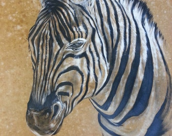 Zebra on bottom ocher