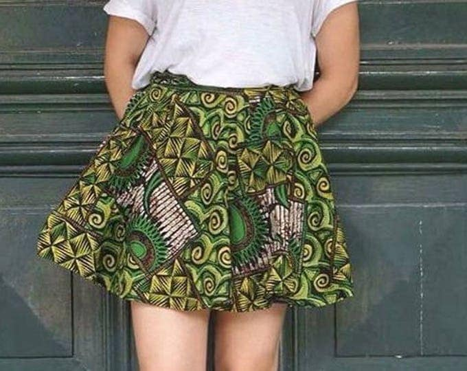 Wax skirt with pocket