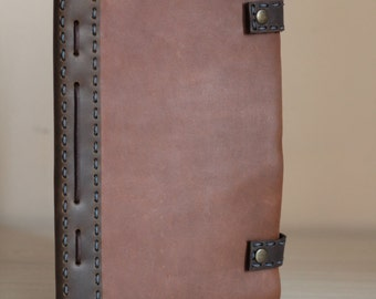 Leather Notebook Cover, Leather Journal Cover, Handmade Leather Cover, Book Cover, travel book