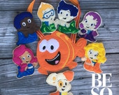 Bubble Guppies Finger Puppet Set With Carrying Pouch (Individual or Set available) | Finger Family | Finger Puppets | Pretend Play