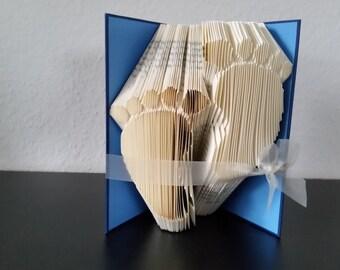 Babyfüße - gefaltetes Buch