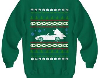 Mazda Miata Ugly Christmas Sweater Sweatshirt Holidays