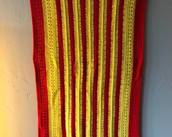 Red and Yellow Afghan