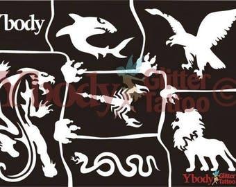 """Stencil set """"Wild animals"""""""