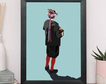 Morris Dancer Giclee Print