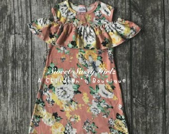 Very Cute Floral Peach Dress