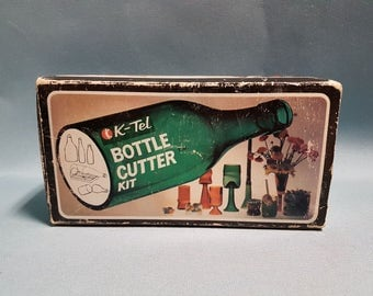 Vintage K-Tel Bottle Cutter Kit with Original Box and Manual