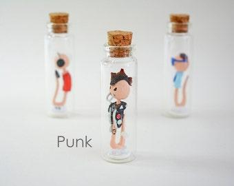 """Sperm Collection """"PUNK"""" - Handmade miniature in a jar"""