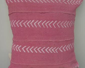 Pink Mudcloth with Arrow Design