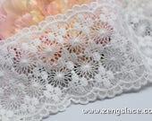 Lace Trim/Guipure Lace Trim/Antique Lace Trim/Wedding Veil Lace Trim/Bridal Lace Fabric/Guipure Lace Fabric/Vintage Lace by the yard/VL-24