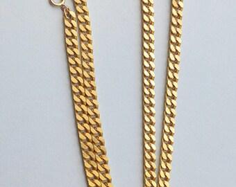Gold plated Necklace, 18 carat, PL 18k, Vintage