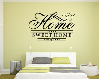 Home Sweet Home with Line Underneath Home and Family Vinyl Wall Quote